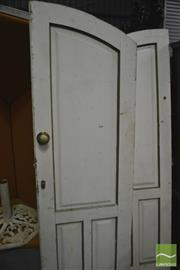 Sale 8326 - Lot 1749 - Pair of Dome Top Entrance Doors