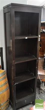 Sale 8489 - Lot 1078 - Tall & Slim Open Bookshelf with Single Drawer to Base