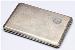 Sale 9175 - Lot 94 - An Early 20th Century Sterling Silver Cigarette Case (wt 182.5g)