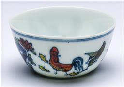 Sale 9175 - Lot 250 - A Chinese Doucai Chicken Cup (Dia:8cm)