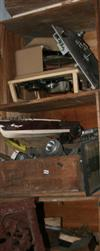Sale 7670A - Lot 1016 - Three crates of sundries including model boats, car parts and tools etc