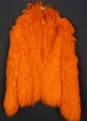 Sale 7982B - Lot 69 - Tangerine Mongolian lambswool jacket with suede lining and fasteners (M)