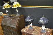 Sale 7981A - Lot 1008 - Two Pairs of Leadlight Shade Table Lamps (4 Lamps)