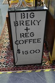 Sale 8039 - Lot 1086 - Big Breky + Coffee Advertising Sign