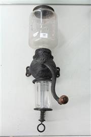 Sale 8261 - Lot 58 - Arcade Wall Mounted Coffee Grinder