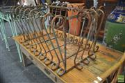 Sale 8299 - Lot 1061 - Scrolled Iron Planter Basket