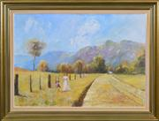 Sale 8410T - Lot 2064 - Craig Radleigh Taylor (XX) - Untitled, 1979 (Country Stroll) 60 x 85cm