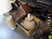 Sale 8464 - Lot 2241 - A Large Collection of Sundries incl Lamps, Heaters, Card File Cabinets etc