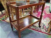 Sale 8562 - Lot 1042 - Tiered Timber Serving Trolley