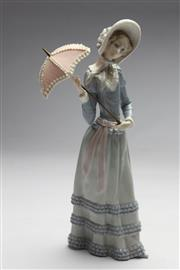 Sale 8673 - Lot 10 - Lladro Figure Of Lady With Umbrella