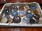 Sale 8760 - Lot 1064 - Tray of Natural Polished Agate Slices