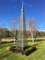 Sale 8782A - Lot 6 - Artist unknown, the steel spire, height approx. 5m by 90cm width.
