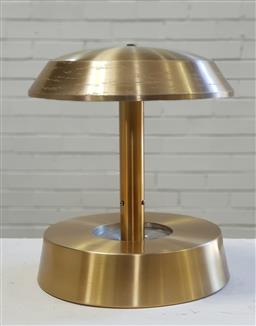 Sale 9151 - Lot 1004 - Brass art deco dome top table lamp (h:44cm)