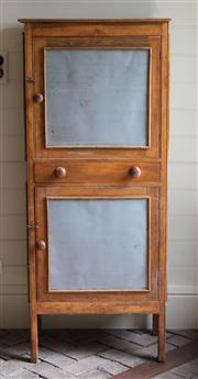 Sale 7379B - Lot 63 - A Pine Meat Safe, the double cabinet with shelved interior raised on square legs. 156 x 66 x 40cm