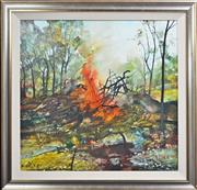 Sale 8161A - Lot 28 - Diana Johnston (XX) - Burning Off 92 x 92cm