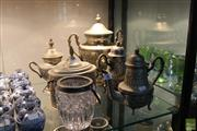 Sale 8226 - Lot 87 - Turkish Samovar With Other Metal Wares Inc Tea & Coffee Service
