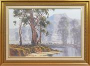 Sale 8301 - Lot 507 - Allan Fizzell (1944 - ) - Capertee Valley, 1980 59.5 x 90.5cm