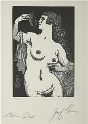 Sale 8492A - Lot 5069 - Norman Lindsay (1879 - 1969) - The Mask 12.5 x 8.5cm (frame size: 51.5 x 47cm)
