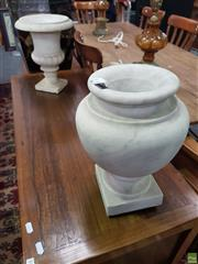 Sale 8593 - Lot 1021 - Two Non-matching Marble Urns