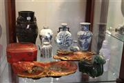 Sale 8189 - Lot 144 - Chinese Lacquer Wares with Other Chinese Wares incl. Blue & White Ceramics