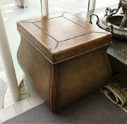 Sale 8205 - Lot 84 - A contemporary bombe storage trunk/bedside with three drawers, H 60 x W 68 x D 72cm
