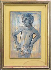 Sale 8259 - Lot 569 - Donald Friend (1915 - 1989) - Balinese Boy 47.5 x 31.5cm
