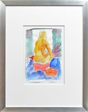 Sale 8282A - Lot 18 - Christabel Blackman (1959 - ) - Seated Nude 40 x 28cm