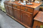 Sale 8289 - Lot 1077 - Timber Sideboard with Two Drawers and Four Doors
