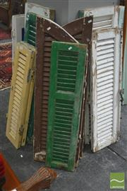 Sale 8299 - Lot 1072 - Collection of Ten Timber Window Shutters