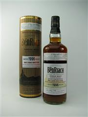 Sale 8329 - Lot 526 - 1x 1996 The Benriach Distillery 18YO Limited Release Pedro Ximenez Finish Single Cask Single Malt Scotch Whisky - bottle date 9/20...
