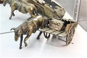 Sale 8346 - Lot 19 - Bronze Horse & Cart Figure
