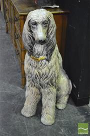 Sale 8380 - Lot 1001 - Large Ceramic Afghan Hound