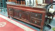 Sale 8404 - Lot 1021 - Oriental Cabinet with Four Drawers & Two Doors