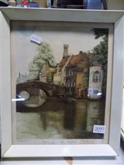 Sale 8422T - Lot 2097 - Artist Unknown, Etching, Bruge Les Reflection, signed and editioned, 24 x 19cm