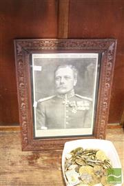 Sale 8468 - Lot 2085 - Framed Portrait of General Sir Douglas Haig