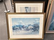 Sale 8794 - Lot 2095 - Two Decorative Prints after Darcy Doyle and Robert Hagan, 72 x 93cm (frame size each)