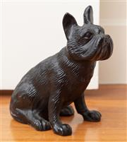 Sale 8863H - Lot 35 - A heavy cast bronze figure of a bulldog, Height 19cm