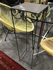 Sale 8889 - Lot 1323 - Pair of Metal Plant Stands