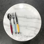 Sale 8975K - Lot 32 - White Marble Serving / Cheese Board - 40cm diameter