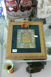 Sale 8189 - Lot 55 - Hand Painted Bronze Icon