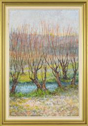 Sale 8325A - Lot 6 - Alison Chrystal (XX) - Winter Willows 90 x 55.5cm