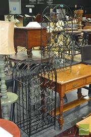 Sale 8341 - Lot 1044 - Two Metal Wine Racks