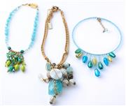 Sale 8550F - Lot 184 - Three assorted costume jewellery beaded necklaces including Le Perle, and two others.