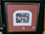 Sale 8582 - Lot 2007 - Grahame Clark - Untitled (Holly Cottage) 37 x 39cm (frame)