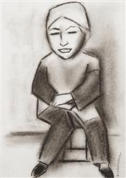 Sale 8656 - Lot 524 - Robert Dickerson (1924 - 2015) - Seated Woman 34 x 24cm