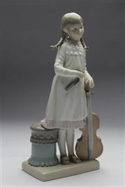 Sale 8673 - Lot 19 - Lladro Figure Of Young Girl With Cello