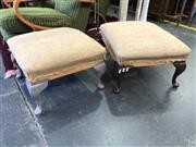 Sale 8801 - Lot 1554 - Pair of Upholstered Footstools