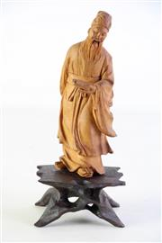 Sale 8989F - Lot 698 - Well carved figure of a Chinese scholar (H21cm)