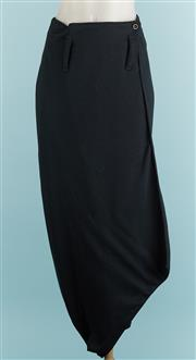 Sale 9071F - Lot 77 - A CHARCOAL CLIFFORD GORDON evening skirt with belt cuff and split to front Size S