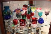 Sale 8116 - Lot 86 - Harlequin Wine Glass with Other Glass incl Etched Victorian